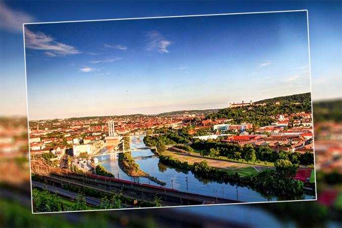 Würzburg im Sommer.