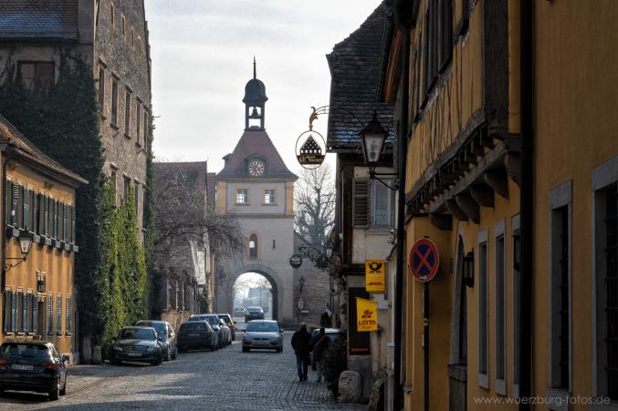 Blick zum Ochsenfurter Tor.