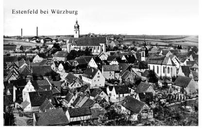 Historische Postkarte von 1940 aus Estenfeld.