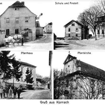 Historische Postkarte von 1916 aus Kürnach.