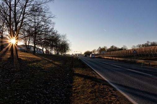 An der Kitzinger Straße Richtung des Würzburger Stadtteils Hubland.