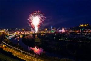 Feuerwerk beim Kiliani-Volksfest 2014 (Foto: www.wuerzburg-fotos.de)