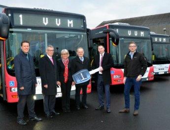 WVV erneuert Fuhrpark mit fünf Bussen