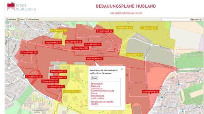 Neuer Online-Service: Planauskunftssystem Bebauungspläne Hubland