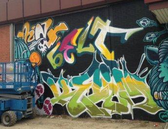 Graffiti-Kunst auf der Landesgartenschau