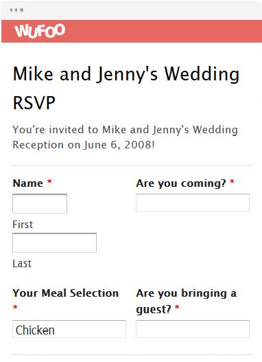 Online Invitation Templates Wufoo