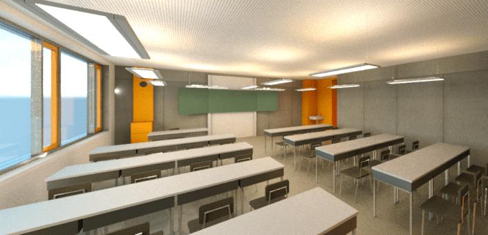 Klassenzimmer_KG_Blick-von-hinten-zur-Tafel