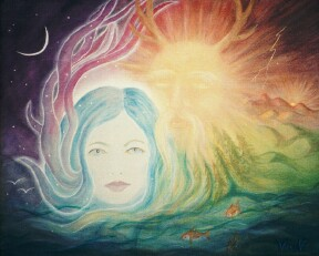 New Moon - Goddess Awakes - copyright Bernadette Wulf