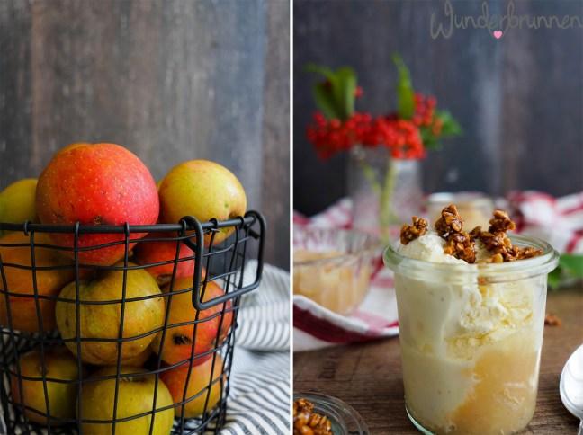 Apfelmus und Vanilleeis - Wunderbrunnen - Foodblog - Fotografie