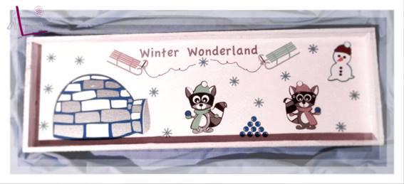 alLina Die Raccoons im Winter