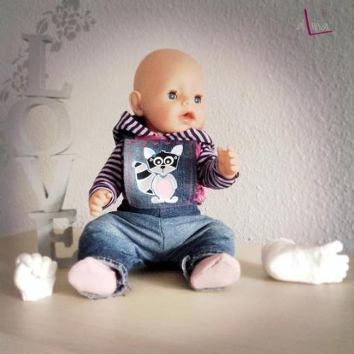 alLina Puppenkleidung Rosa Raccoon
