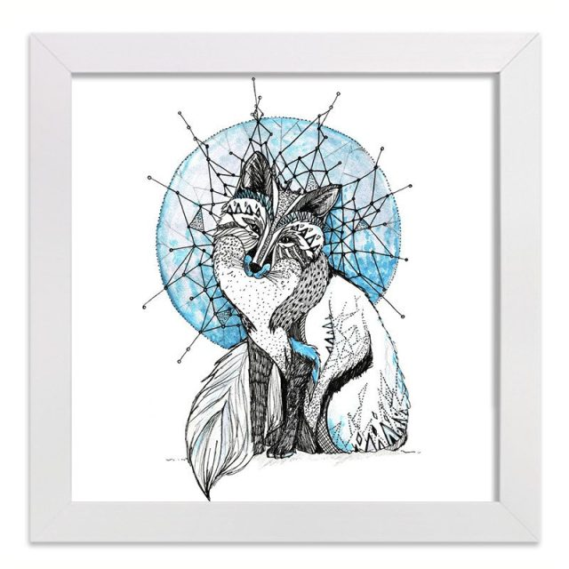 Tamzin Riches Drawing Of A Bohemian Fox Called Ice Fox