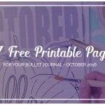 Free Printable October Bullet Journal SetUp