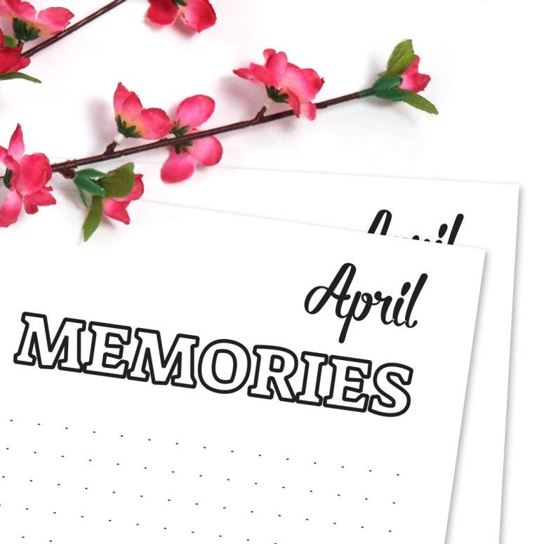 15 Bullet Journal Printables April 2017 • Memories Doodle Page April 2017 - Wundertastisch Design