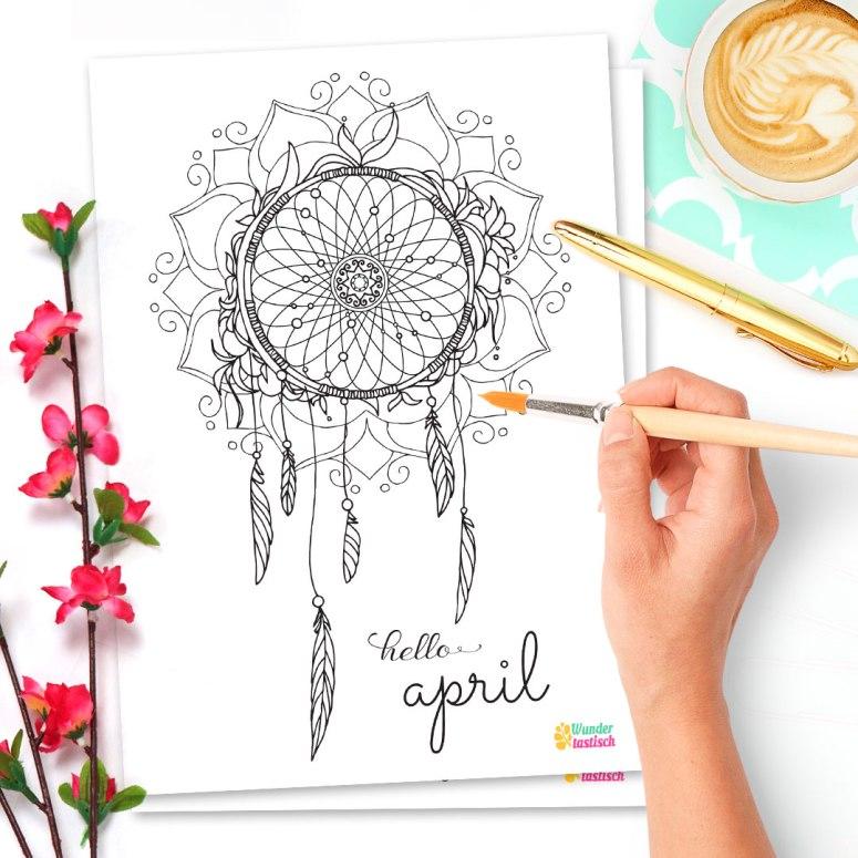 15 Bullet Journal Printables April 2017 • Hello April 2017 - Wundertastisch Design