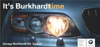 Mobilität: F12 Plakatierung für BMW Händler Burkhardt AG in Sursee
