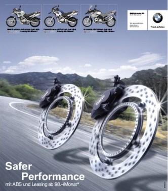 Mobilität: ABS-Inserat für BMW Motorrad