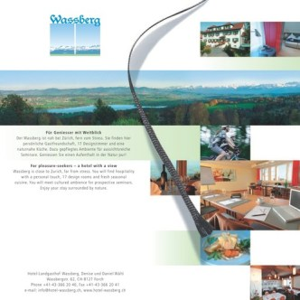 Hotel-Gastronomie: Hotelprospekt Wassberg