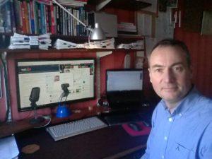 Mark Stonham Office Desk for LinkedIn Training Calls