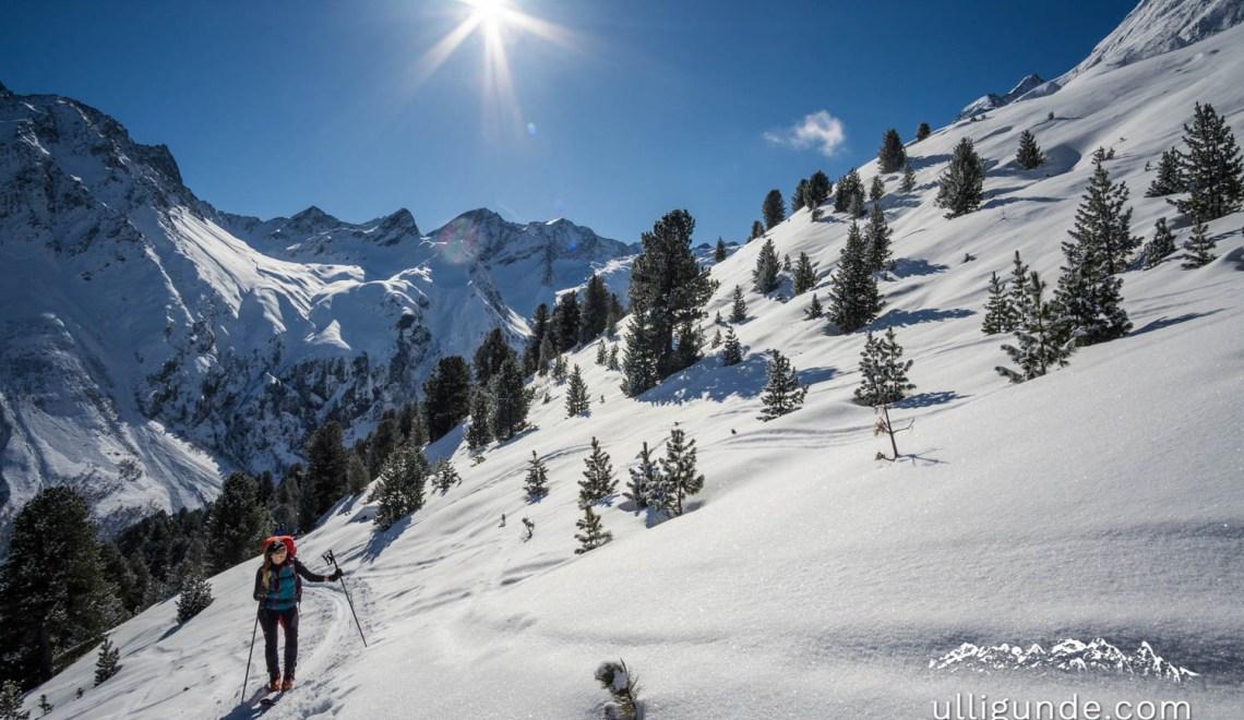 Schöntalspitze (3008m), Längentaler Weißkogel (3218m), Hoher Seeblaskogel (3235m) – Blogger-Skitourenreise auf´s Westfalenhaus