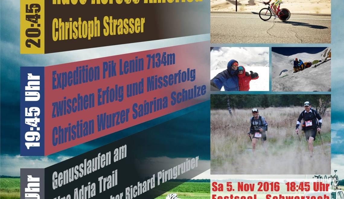 8. Herbstvortrag Schwarzach – mit Laufen, Bergsteigen und Rennradfahren extrem