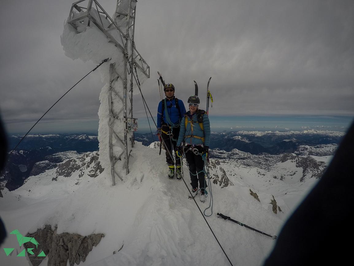 Nach der Dachstein-Überquerung am Gipfel