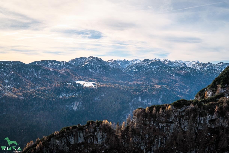 Das Hagengebirge vom Kleinen Göll aus gesehen.