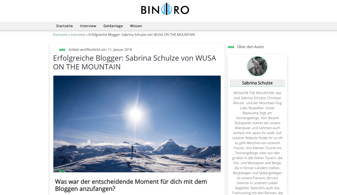 binoro.de – Interview mit Wusa on the Mountain