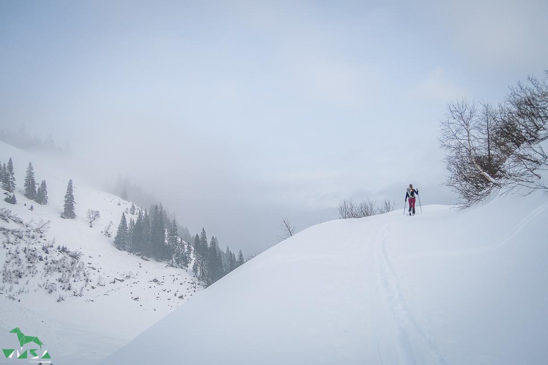 Großarl liegt im Nebel.