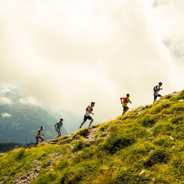 Laufen in toller Landschaft in Gastein.