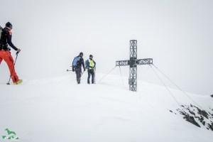 Am Gipfel des Winnebacher Weißkogel.