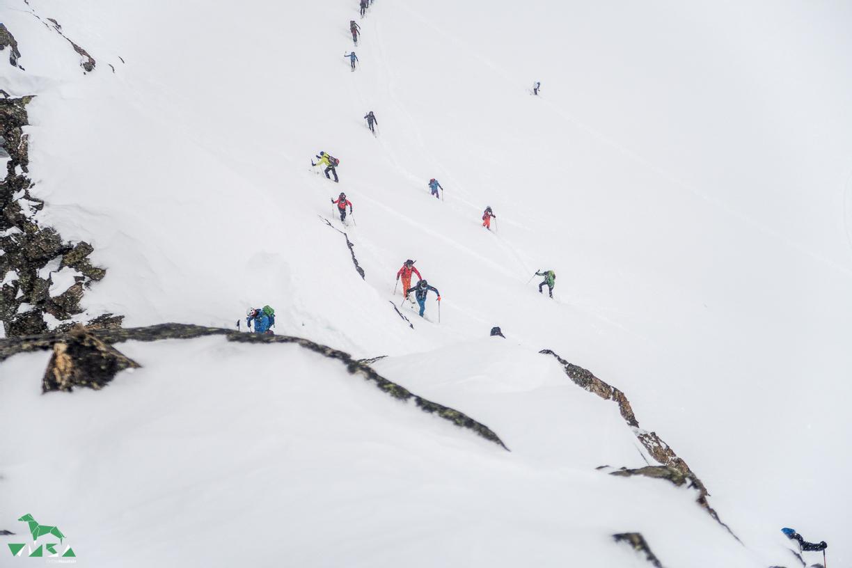 Kleine steilere Passage auf den Winnebacher Weißkogel.