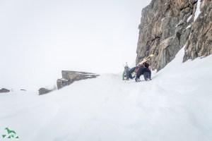 Erneut steiler Aufstieg zur Schöntalspitze.