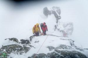 Abstieg während der Skitour Chalausköpfe