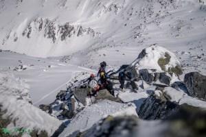 Steiler Aufstieg zur Wagnerschneidspitze