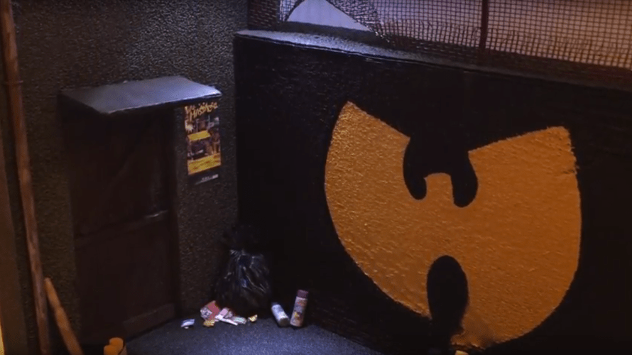 Wu- Tang Clan Miniature Scene, Street Diorama Graffiti
