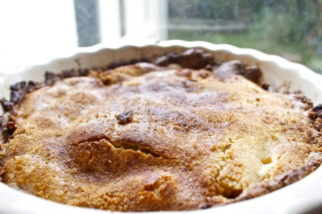 Gluten Free, Spiced, Apple, Peach ,and Walnut ,Cobbler, cinnamon, almond, walnuts, toasted, nuts, ground ginger, nutmeg