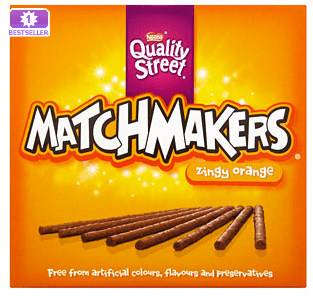 gluten free, orange, chocolate, matchmakers