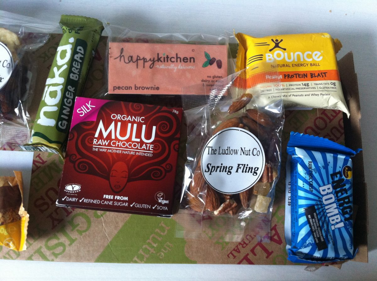 The Nutribox, gluten free, mini nibbles