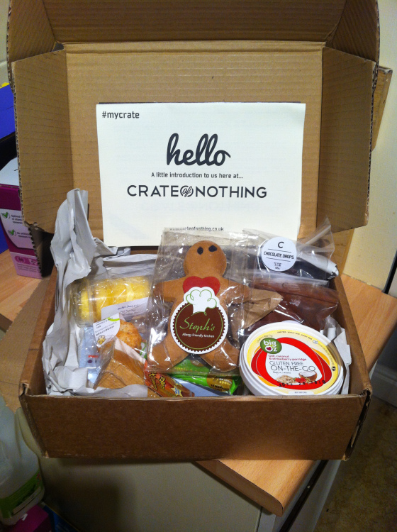 Crate of Nothing, Gluten free, box, gluten free blog uk, gluten free blogger, uk, lifestyle blog uk