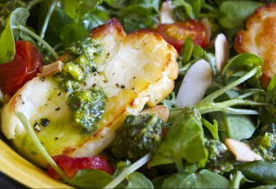 Gluten Free, Roasted Halloumi, Tomato, Salad, Pesto, Vinaigrettelifestyle blog uk, lifestyle, lifestyle blog, gluten free blog, gluten free blogger uk, gluten free recipes,