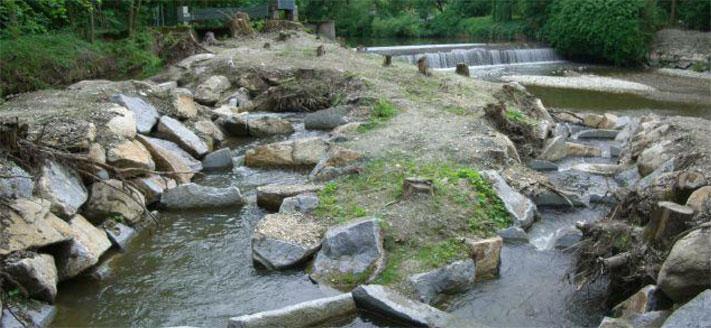 Hochwasserschutz Kälberweidesiedlung