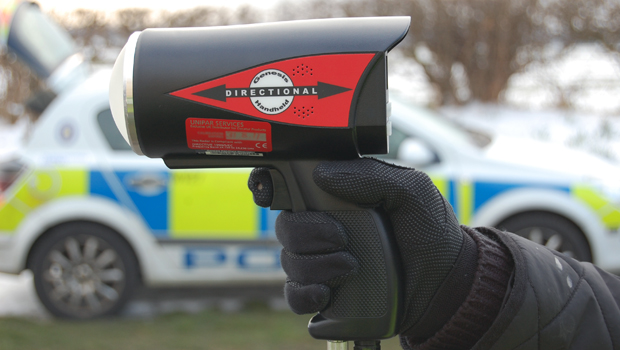 The speed detection equipment used.
