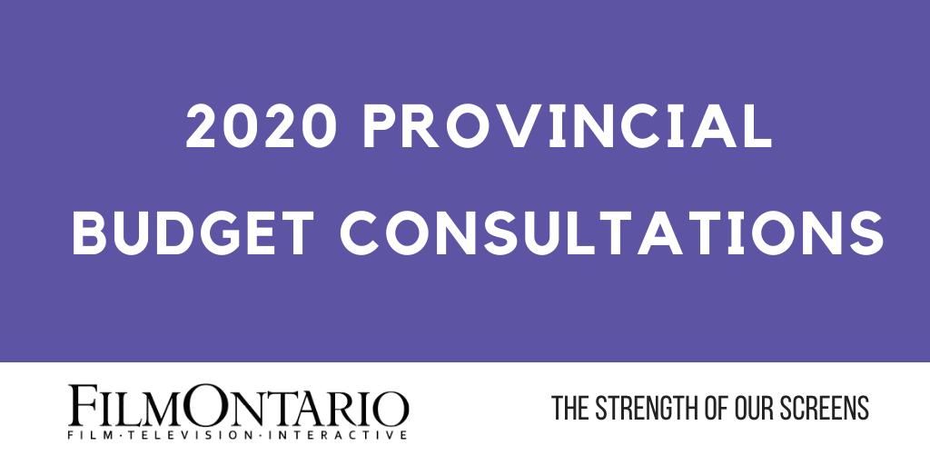 2020 Provincial Budget Consultations