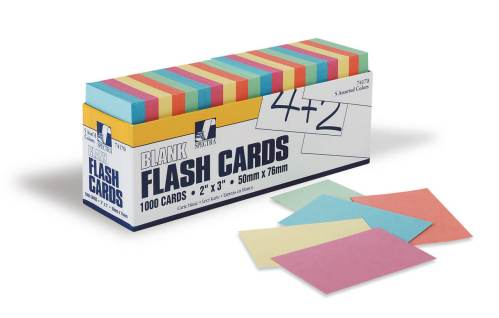 Index Cards - Assorted 3x9 250 pack