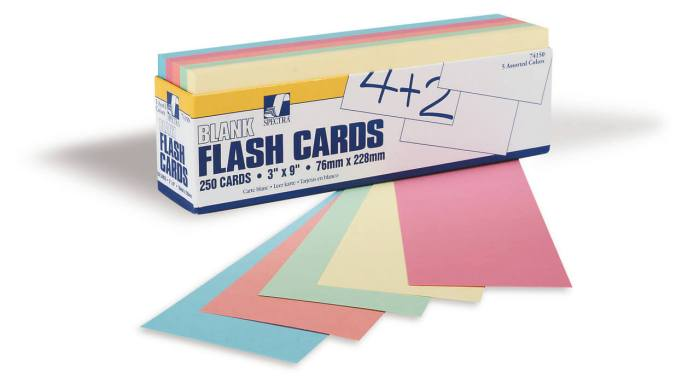 Index Cards - Assorted 3x2 1000pack