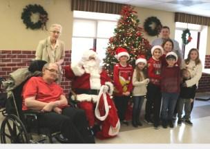 Santa visit to Schervier Pavilion 1
