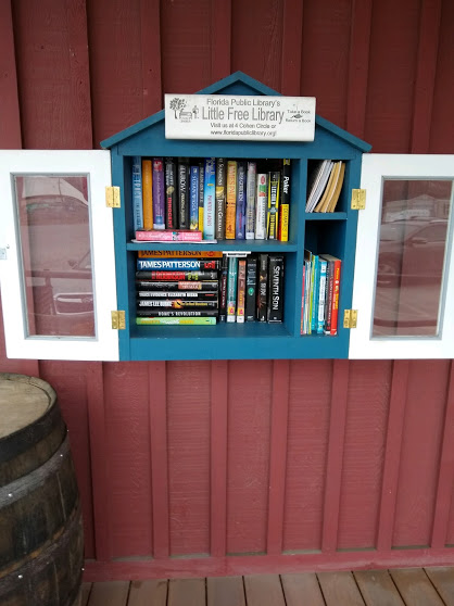 Children are welcome to take a book to read from the Little Free Library, located on the front porch of Roe Brothers at 65 Maple Ave. in the Village of Florida. Photo provided.