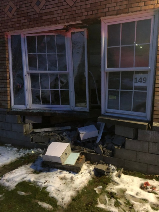 Park Ave. Elementary School in the Village of Warwick sustained serious damage, including broken pipes and flooding, when a vehicle struck the building on Christmas Eve. (Photo provided)