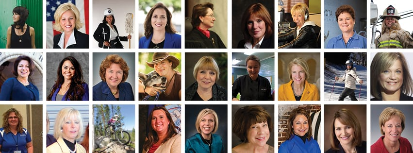photo grid of 27 women honored in 2014